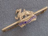 Sterling Silver Sweetheart Brooch - Royal Berkshire Regiment (Princess Charlotte of Wales's